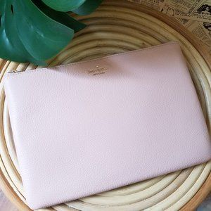 Jackson Large Zip Pouch Rosy cheeks Kate Spade